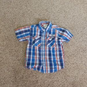 Boys Toughskins Plaid Shirt 5/6